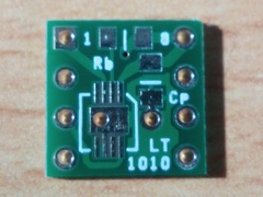 【変換基板】 LT1010 DFN→DIPデュアル化基板