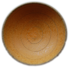 天草陶石 お清め皿 黄色