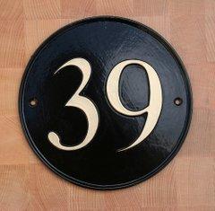 ナンバーサイン round 円形 17.7cm径(モチーフ不可)