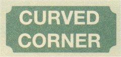 ハウスサイン curved corner 四辺カーブ長方形 W45.7cm x H38cm