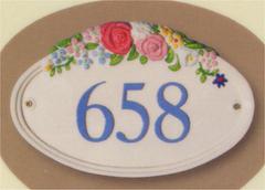 ヴィンテージローズガーデン・ナンバーサイン W30.5cm x H17.7cm