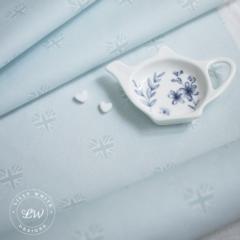 Lilly White Designs -English Heart Union Jack- リリィホワイト・イングリッシュハート ユニオンジャック(レイクサイドブルー)コットン生地