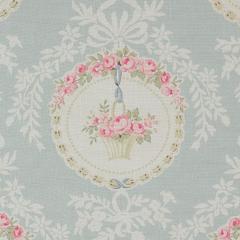 The Painted Room -Rose Medalion- aqua ローズメダリオン 生地