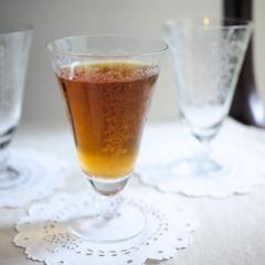 Fostoria フォストリア・ロマンス*エレガントグラス*リボンとお花のアイスティーグラス*Medium