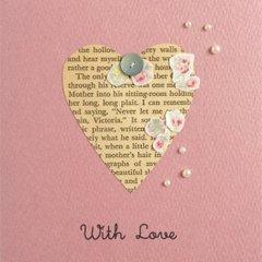 多目的グリーティングカード With Love /ハートにお花のコラージュR〔クリックポスト発送可〕
