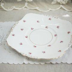 Crown Staffordshire クラウンスタッフォードシャー*薔薇のつぼみ ヴィンテージケーキプレート