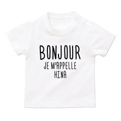 ボンジュール名入れTシャツ*ベビーサイズ <No.BT413>