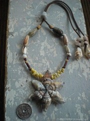 Canarium urceus TOP Oliva Shell Necklace