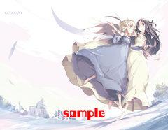 カタハネB2タペストリー 天使の羽ばたき(Wスエード)
