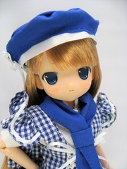 ちぃちちゃん ベーカリーコスチューム(青服)茶金髪