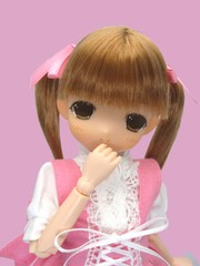 乙女しおり カフェコスチューム(ピンク服)金髪