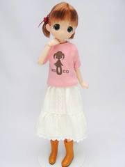 23-21用ビッグシルエットTシャツ(ピンク)