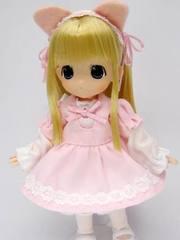 11用ねこちゃんワンピースSET(ピンク)