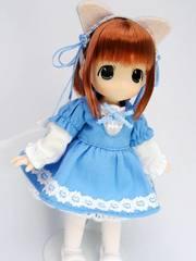 11用ねこちゃんワンピースSET(ブルー)