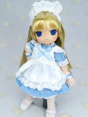 11cm用メイドドレス(水色)