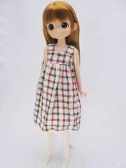 23-21cm用ワンピース(赤チェック)