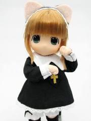ちょこちょこもこ(金髪)ねこみみロリータ 黒服