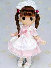 11cm用メイドドレス(ピンク)