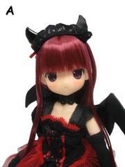 ちぃちちゃん 小悪魔ドレス(赤) 赤髪