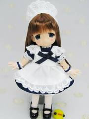 11cm用メイドドレス(ネイビー)