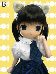 れみる ねこちゃん学園制服(青)黒髪