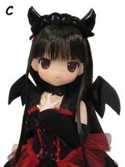ちぃちちゃん 小悪魔ドレス(赤) 濃茶髪