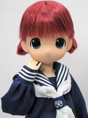 ちっちゃなもこちゃん ミニツーテール(紺セーラー)赤髪