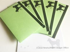 柴犬シルエットのレターセット(便箋&封筒)