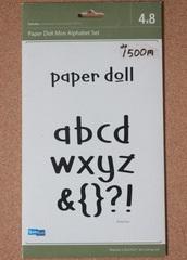 【フリマ】 QuicKutz 4×8 paper doll