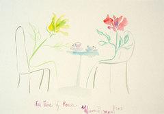 Tea Time of Roses ~薔薇のお茶会~*水彩画*ポストカード