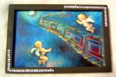 銀河鉄道の夜、天使*デコ額装画*複製画