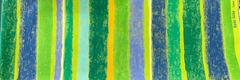 郷家啓子デザインの布 love stripe 緑 1m