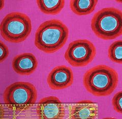 郷家啓子デザインの布 Fluffy Dot-赤 1m