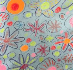 郷家啓子デザインの布 full bloom 水色 1mカット