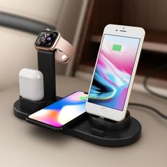 iPhone Airpods3in1回転式充電スタンド/Apple Watch多機能充電スタンド/iphone / micro usb電話/ Type-c電話、Apple Watchシリーズ4/3/2/1 / iPhone X 8 XSの充電Station/ワイヤレス充電