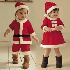「70cm-160cm」子供用/クリスマスコスチューム/サンタクロース男の子と女の子/クリスマススーツ