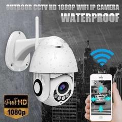 IPカメラOnvif WiFi 2MP 1080PワイヤレススピードドームIRカメラ屋外セキュリティ監視NetCam IP CamaraエクステリアTFカード