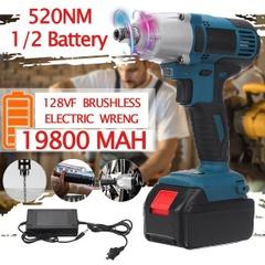 128V 520N.mトルク可変速度インパクトレンチ/高トルクブラシレスコードレス電動レンチ【いまだけ2バッテリー】