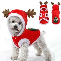 犬用ジャケットコート/犬服サンタ衣装/ペット衣装小型犬/XS-XL