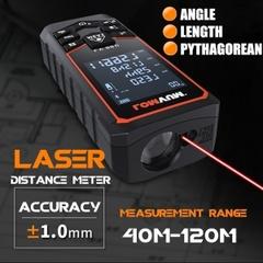 40m-120m Lomvumハンドヘルドレーザー距離計デジタルレーザー距離計USB充電電気レベルテープレーザー距離測定器