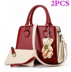 1set(2pcs)All Match Bear pendant Handbags