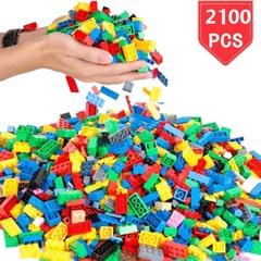 LEGO 2100 PCSすべての主要ブランドと互換性のあるバルクブロック玩具