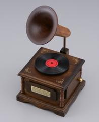 木製オルゴール蓄音機(ライムライト)