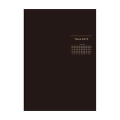 ナカバヤシ ロジカル・シンクノート 糸綴じノート・B5 /方眼5mm ブラック/グレー罫