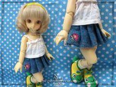 幼SD用デニムスカート2