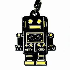 電子基板ストラップE 『れとろぼ』(黒)