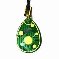 電子基板ストラップB 『しずく』(緑)