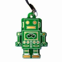 電子基板ストラップE 『れとろぼ』(緑)