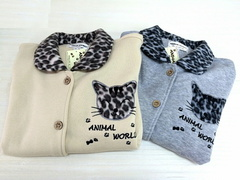 ANIMAL WORLD猫柄フリースパジャマ
