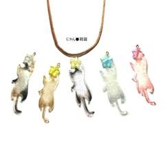 お星様を捕まえた猫のネックレス